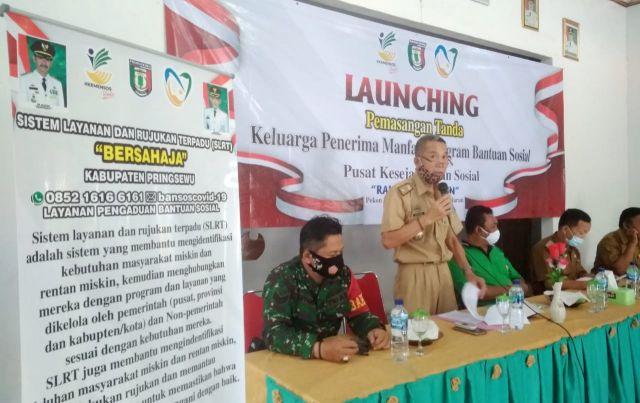 """Pusat Kesejahteraan Sosial  """"Rahayu Binangun"""" Sumberejo Pringsewu  Launching pemasangan tanda KPM Bansos"""