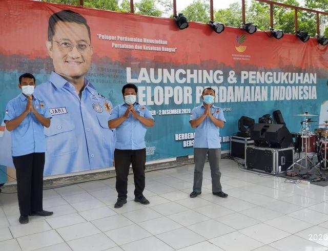 PELOPOR PERDAMAIAN PRINGSEWU HADIRI PENGUKUHAN KORP PORDAM SE INDONESIA